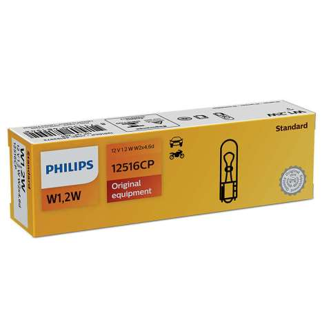 PHI12516 - LÂMPADA PHILIPS - 2721 12v 2w - BASE- W2X4.6d