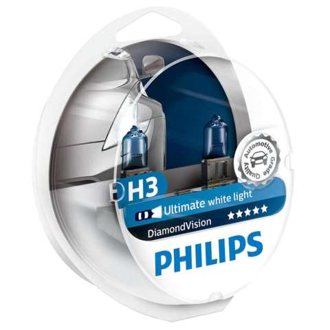 PHIH3DIAMOND - LAMPADA PHILIPS H3 12V 55W DIAMOND VISION